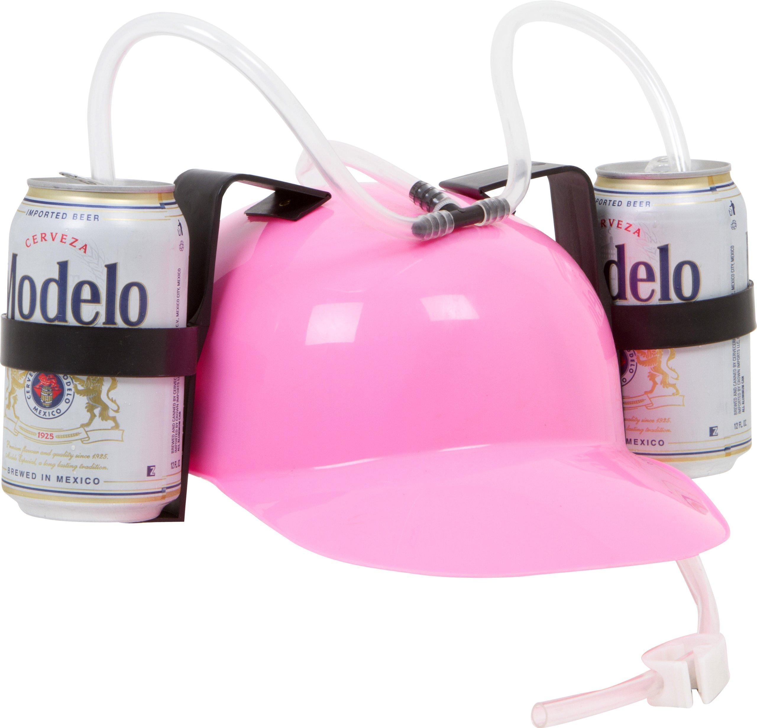 EZ Drinker Beer and Soda Guzzler Helmet (Pink)