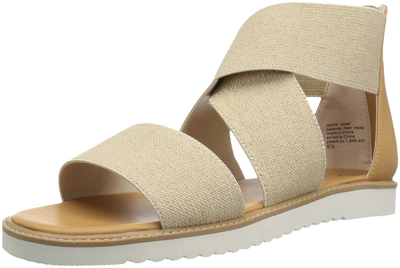 BC Footwear Women's Ring Toss Flat Sandal B0759DTLVJ 8 B(M) US|Natural Linen