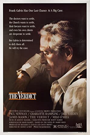 Image result for the verdict movie poster