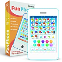Learning Pad Fun Phone with 6 Toddler Learning Games by Boxiki Kids   Touch and Learn Interactive Tablet for Number…