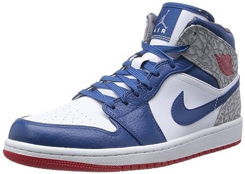 quality get new best Nike Air Jordan 1 Mid True Blue (554724-107): Amazon.ca ...