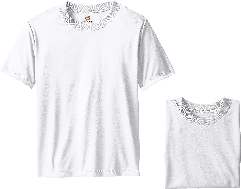 Hanes Big Boys' Cool DRI Performance T-Shirt Pack of 3