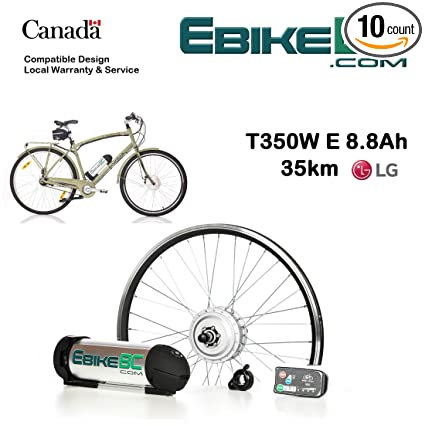 Ebike KIT 350/500W Electric Bicycle E Bike Complete Conversion Kit Front  Hub Motor, Battery Li-Ion 32km/h LED 26/27 5/28/29/700C Rim Sizes (Bike not