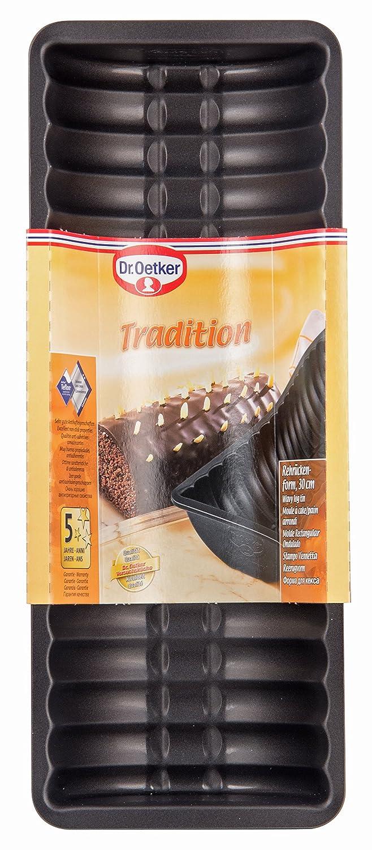 Dr Oetker Rehruckenform 30 Cm Kuchenform Mit Antihaftbeschichtung Hochwertige Backform Fur Stollen Stollenform Farbe Schwarz Menge 1 Stuck