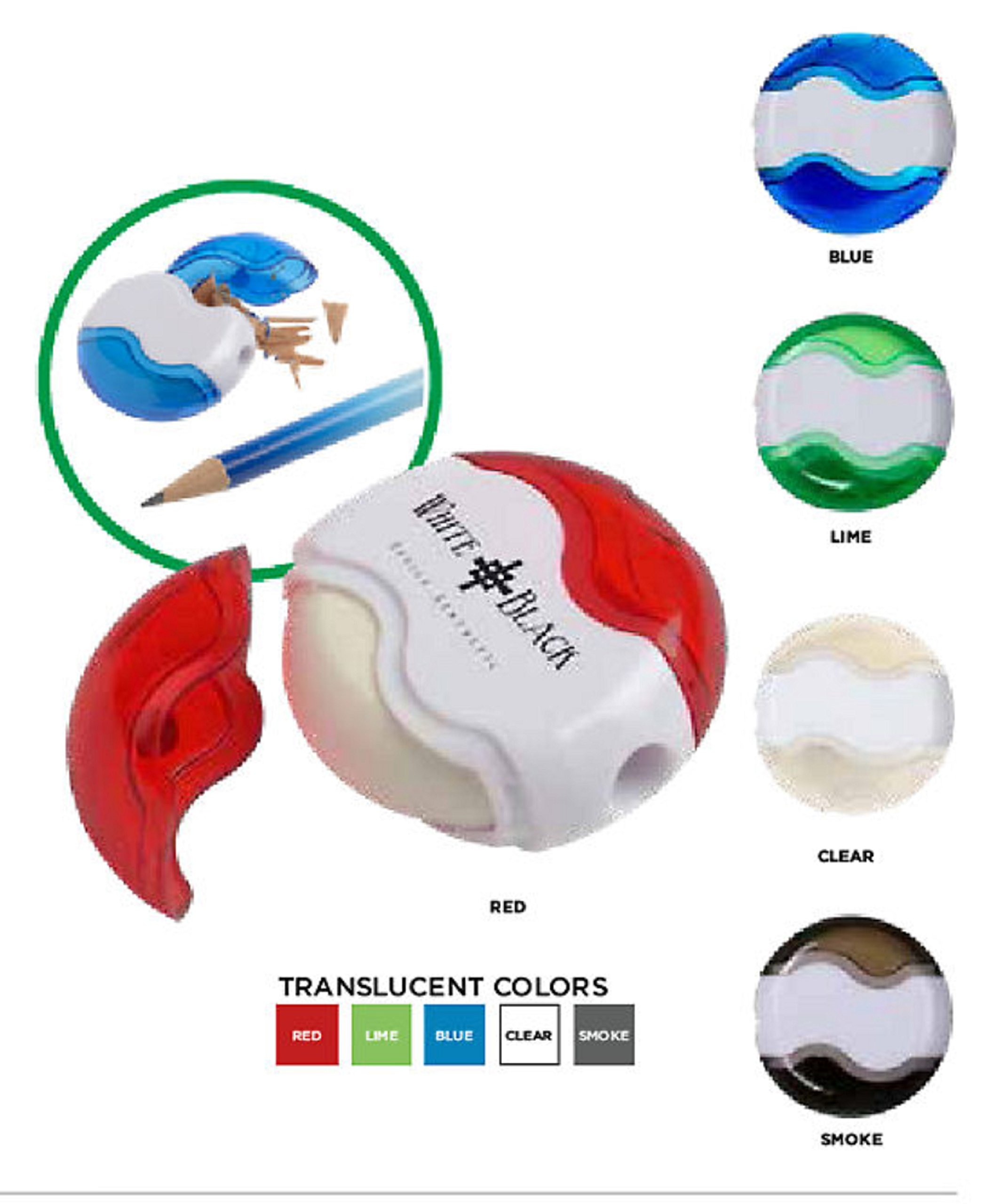 250 Personalized Pencil Sharpener & Eraser Imprinted with your Logo or Message
