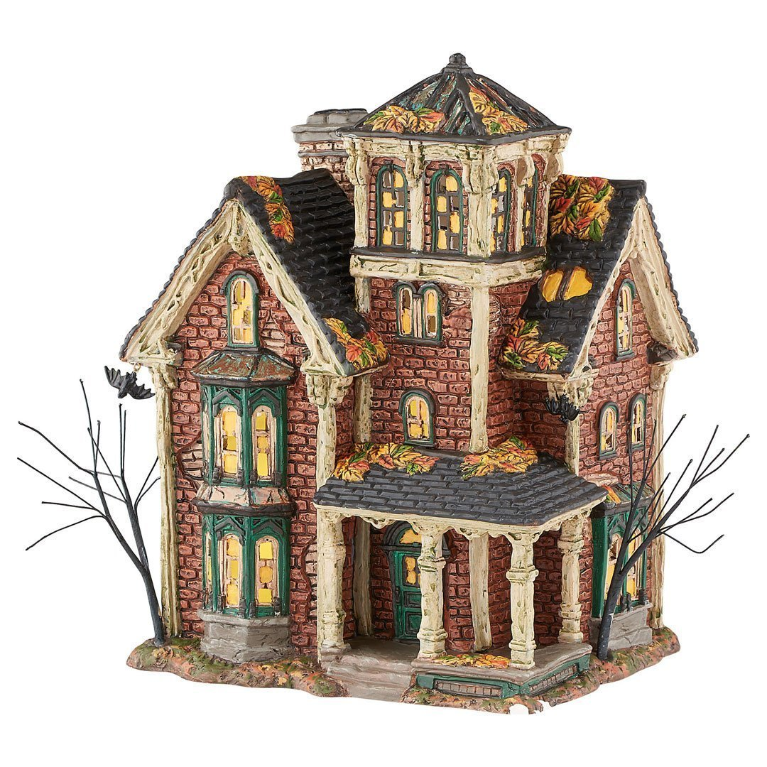 amazoncom department 56 halloween village ghastlys haunted villa lighted building 4051007 home kitchen