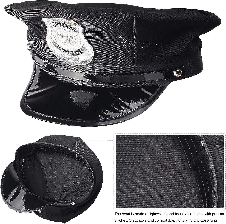 Beelittle Police Hat Handcuffs Walkie Talkies Badge Sunglass Costume Accessories