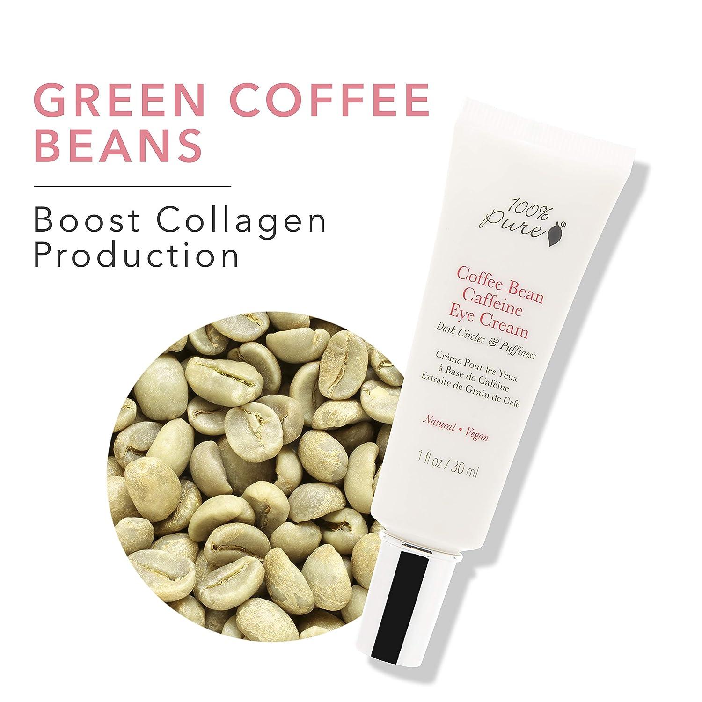 Amazon Com 100 Pure Coffee Bean Caffeine Eye Cream For Wrinkles
