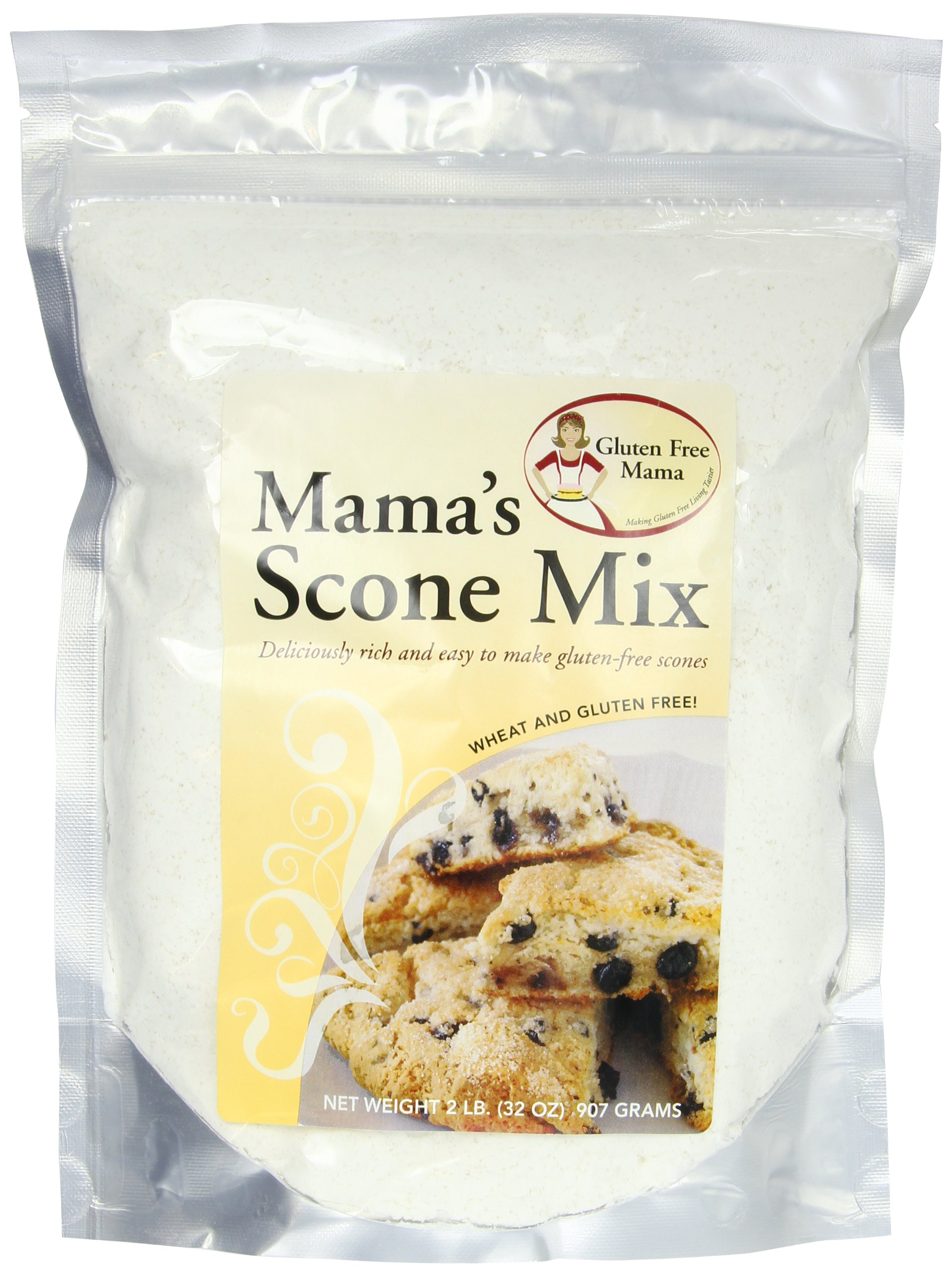 Gluten Free Mama, Mama's Scone Mix,  32 Ounce Pouch (Pack of 6)