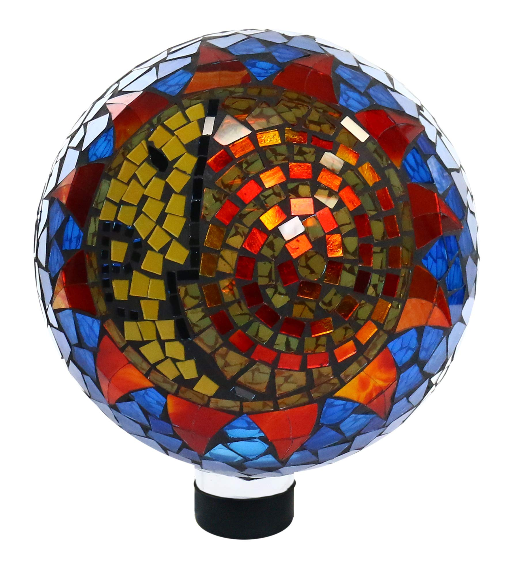 Alpine Corporation HGY120 Mosaic Sun and Moon Gazing Globe, 12 Inch Tall, Multi-Color