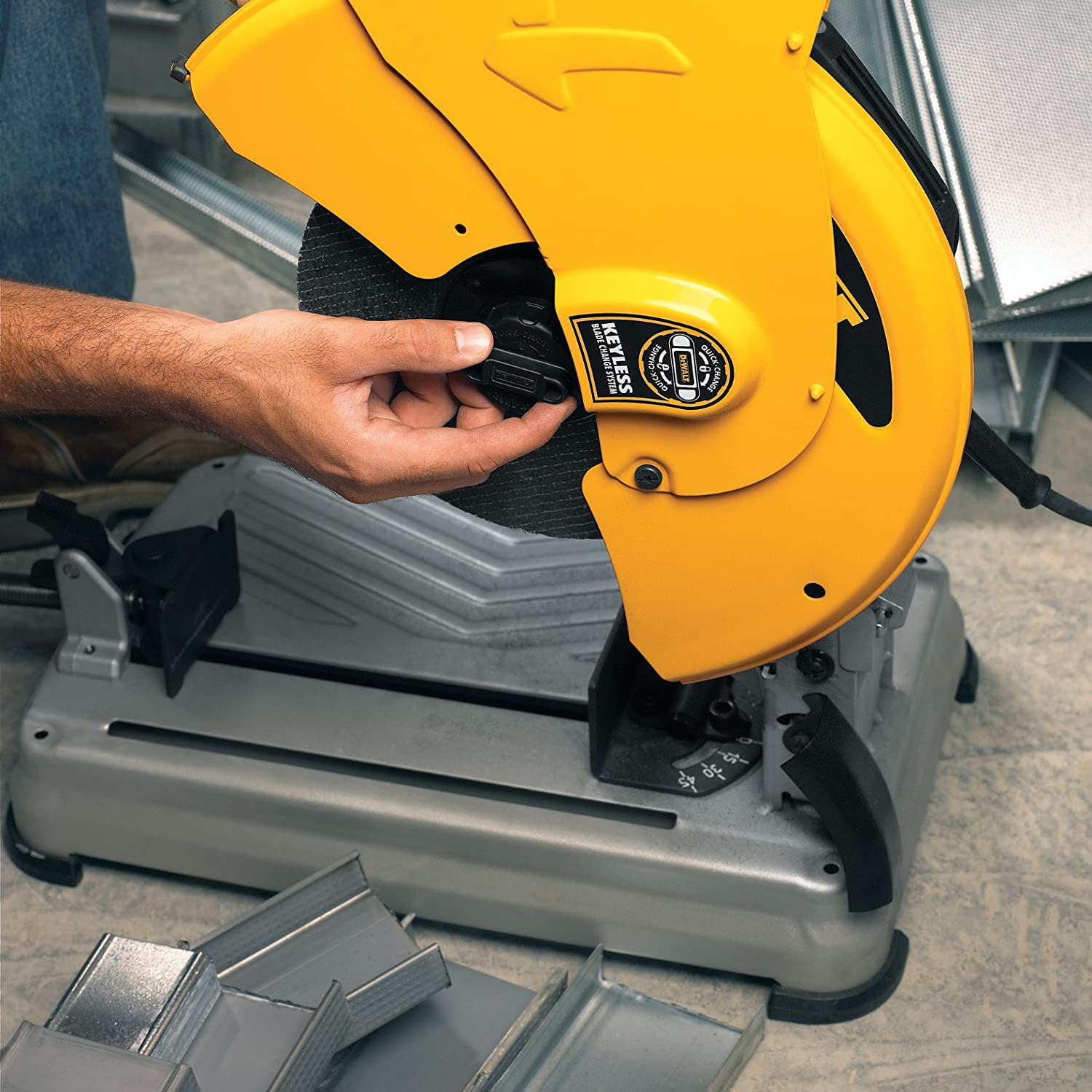Dewalt d28715 14 inch quick change chop saw cut off saw amazon keyboard keysfo Image collections