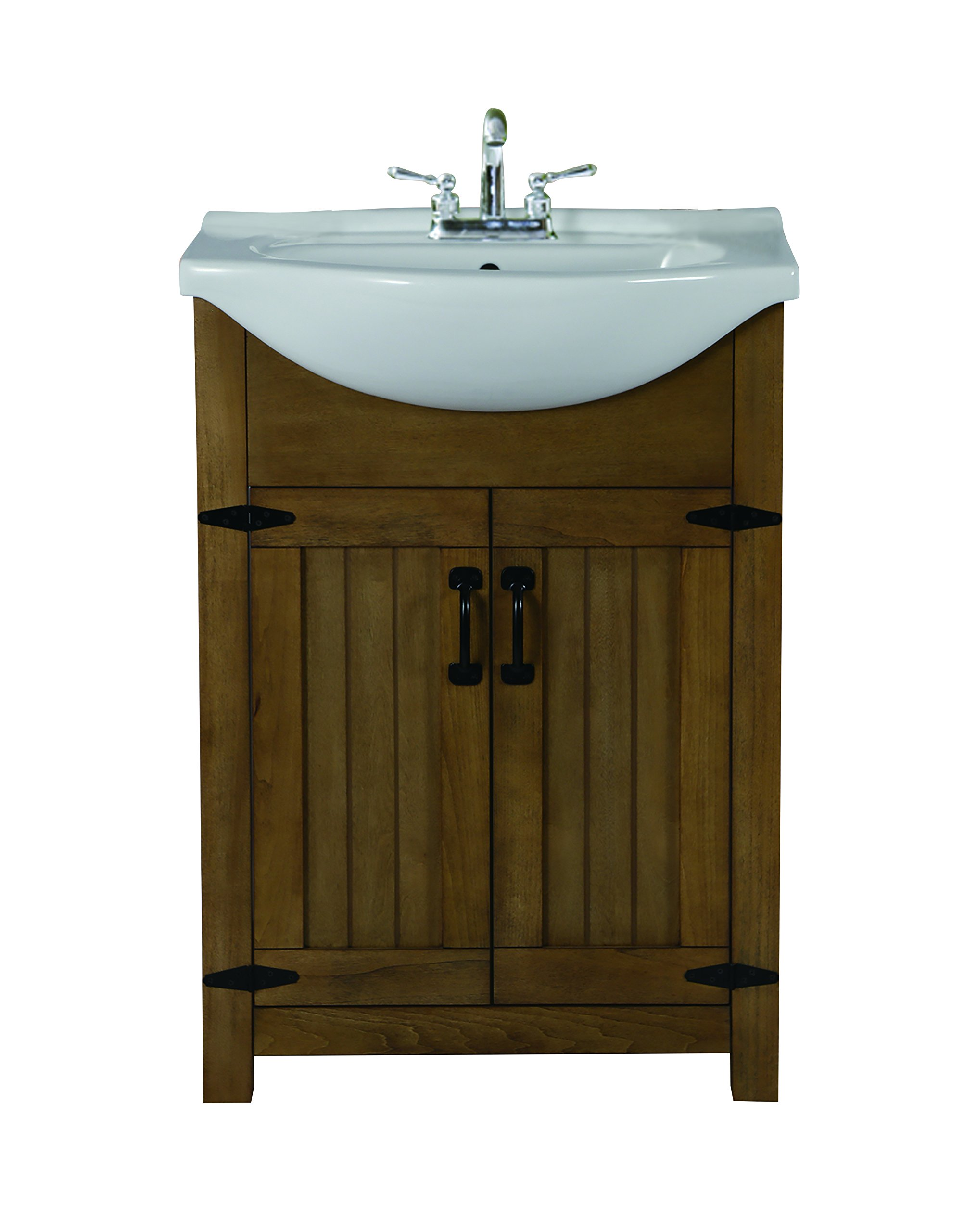 Design House 547505 Austin 24x17 with White Top, Weathered Grey Vanity Combos