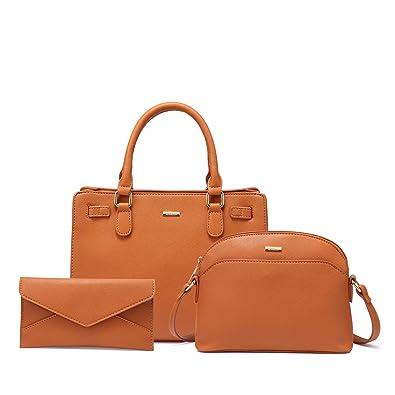 Amazon.com  LOVEVOOK Tote Bag For Women Crossbody Bag Purse Hobo 3PCS Set  Brown  Shoes d56ac8c00206