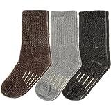 DG Hill 3 Pairs Kids Thermal Socks Merino Wool Hiking Crew Winter