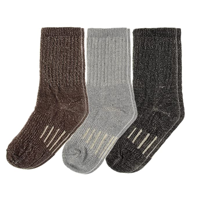 Amazon.com  3 Pairs Thermal 60% Kids Merino Wool Socks  Thermal ... 5e65519a421b