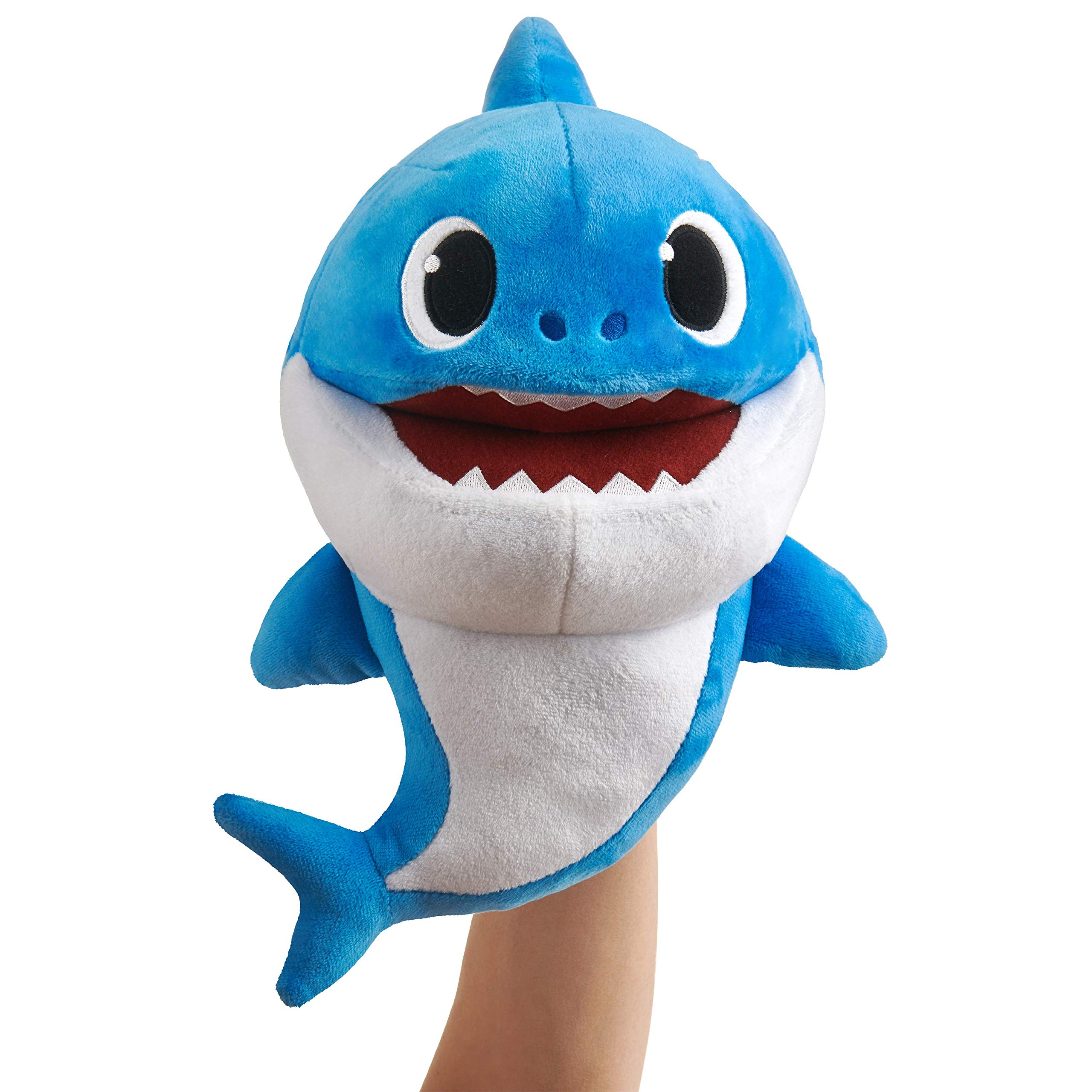 WowWee Pinkfong Baby Shark Official Song Puppet with Tempo Control - Daddy Shark - Interactive Preschool Plush Toy by WowWee