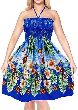 Kleid Halfter verschleiern blau Maxi Sommerkleid der Frauen Bademode ...