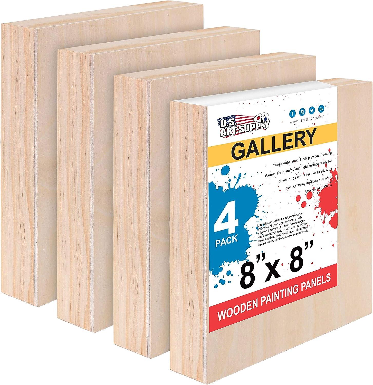 unprimed panels,wood panels painting panels Birch Art Panels canvas watercolor boards