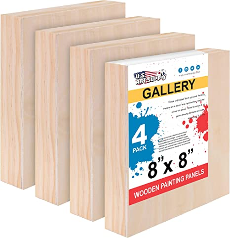 "20/"" x 24/"" Gallery 1-1//2/"" Profile Depth Artist Wood Pouring Panel Boards 2-Pack"