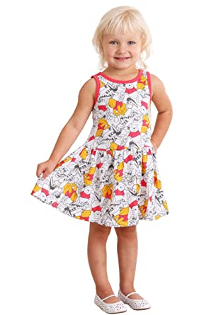 a0b8231aea4d Amazon.com  Children s Apparel Winnie The Pooh Dresses 2 Pack  Clothing