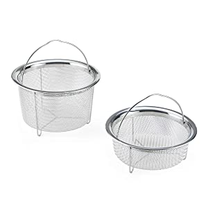 Instant Pot 5252247 Official Mesh Steamer Baskets, Set of 2, Compatible with 6-quart and 8-quart cookers, Stainless Steel