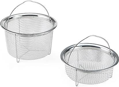 Instant Pot 5252247 Offical Mesh Steamer Basket Set, one Size, Stainless Steel