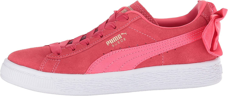 PUMA Kids Suede Bow Slip On Sneaker