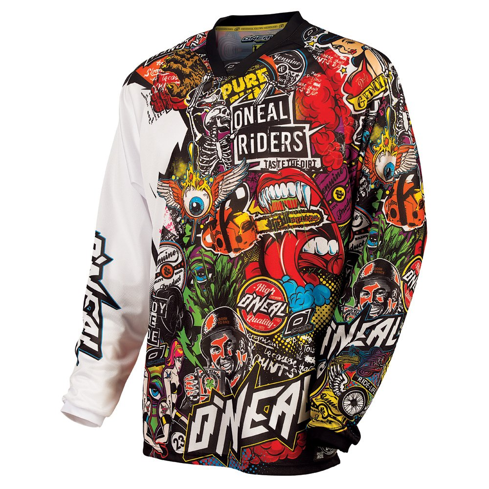 O'Neal 0023-105 Mayhem Crank Men's Jersey (Black/Multi, X-Large) O' Neal
