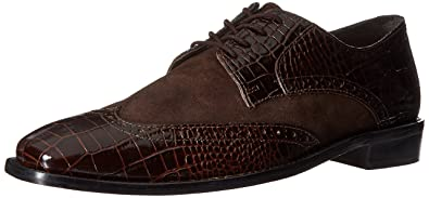 Mens Arturo Leather Sole Wingtip Oxford, Dark Blue, 9.5 W US Stacy Adams