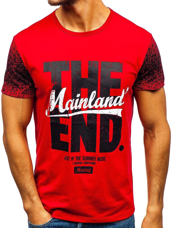 con Stampa di Moda da Uomo Mix 3C3 Stile Casual BOLF Maglietta