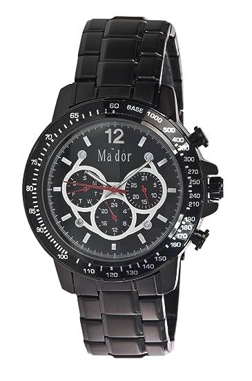 Mador MAM-559 - Reloj de cuarzo con correa de acero inoxidable para hombre,