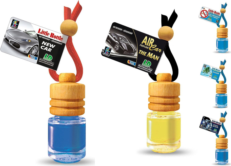Ld 5 Stück Elegante Duftflakons Fürs Auto Autoduft Lufterfrischer Maskuliner Mix Cool Black The Man New Car No Smoking Ocean Auto
