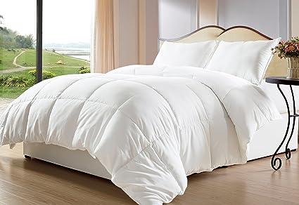 Cozy Beddings, White Down Alternative Comforter/Duvet Cover Insert, Twin/Twin XL