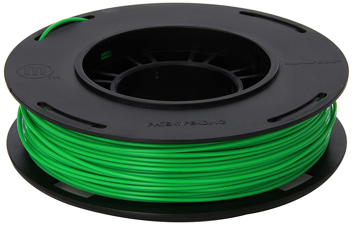MakerBot PLA Filament, 1.75 mm Diameter, Small Spool, Green MP05951