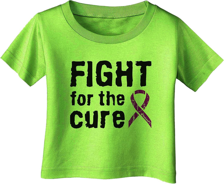 TooLoud Fight for The Cure Purple Ribbon Crohn?s Disease Baby Romper Bodysuit