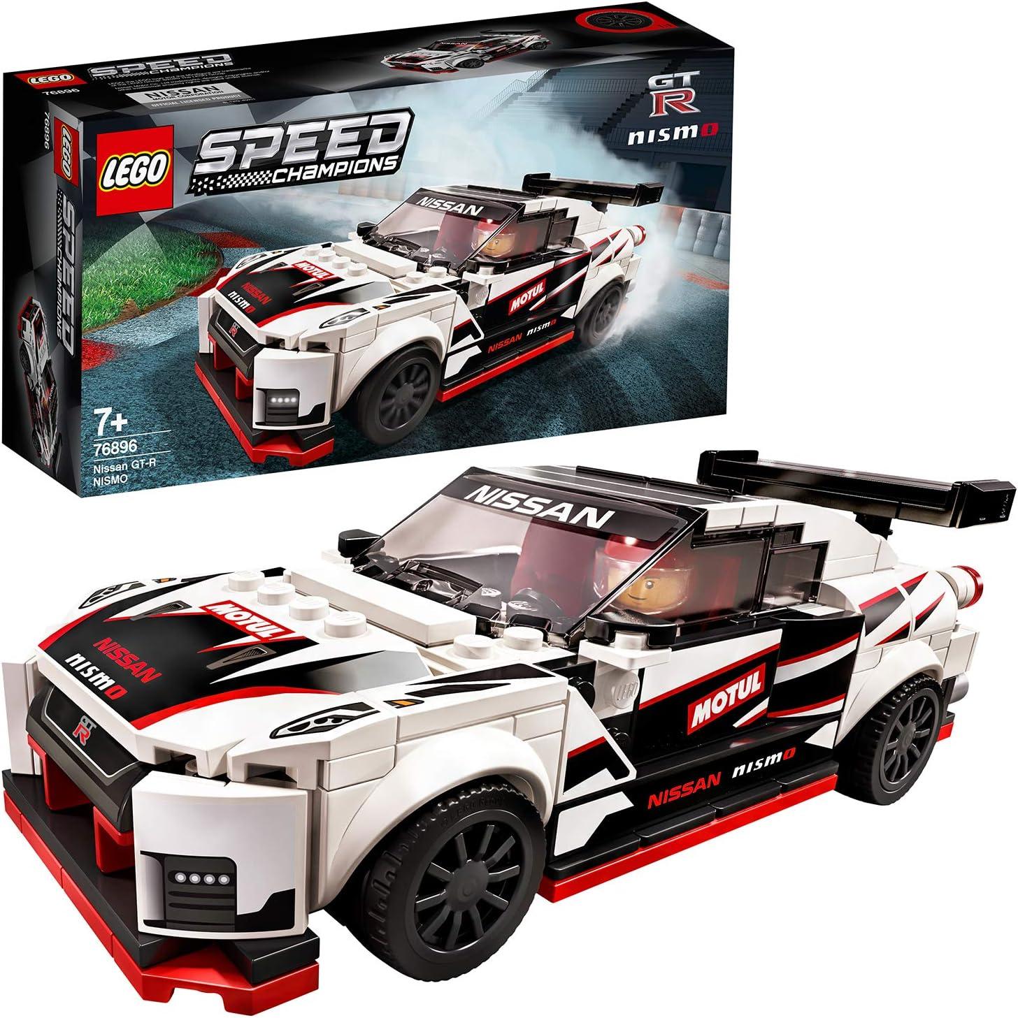 LEGO Speed Champions - Nissan GT-R NISMO, Juguete de Construcción de Coche de Carreras, Incluye Minifigura del Conductor (76896)