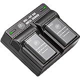 BM Premium 2 Pack of EN-EL23 Batteries and Dual Battery Charger for Nikon Coolpix B700, P900, P600, P610, S810c Digital…