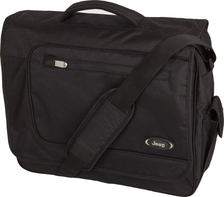 5b3cd8edd2 Jeep Bristol Laptop Messenger Bag, Black: Amazon.co.uk: Luggage
