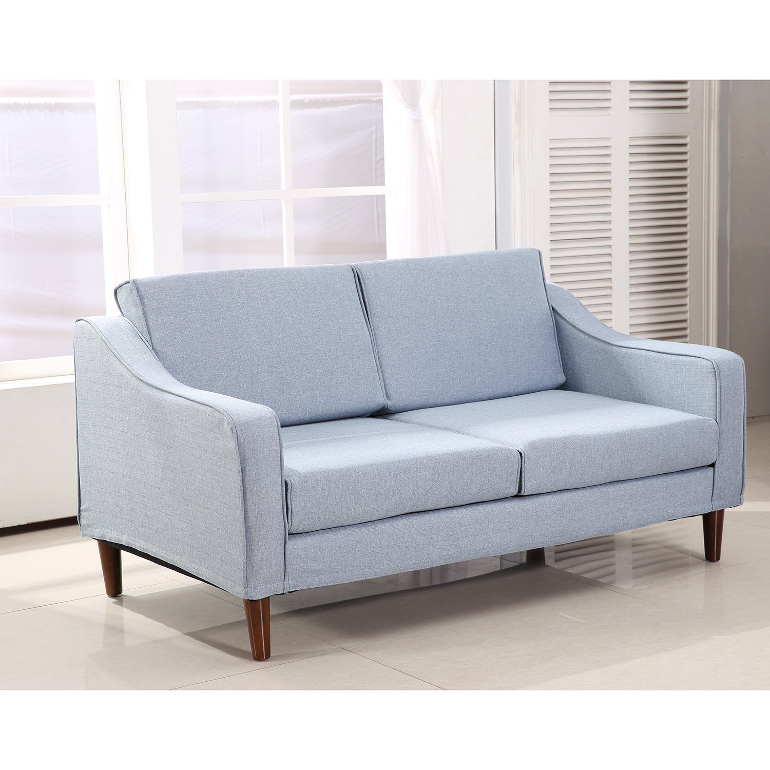 HOM Linen 2 Seater Sofa Double Seat Armchair Couch Chaise