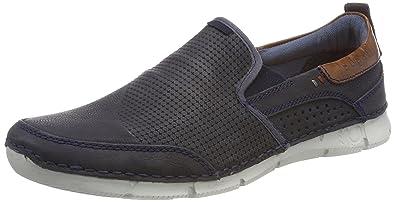 outlet store 6d3fc 7c340 Amazon.com   bugatti denim Herren-Slipper Blau (5)   Loafers ...