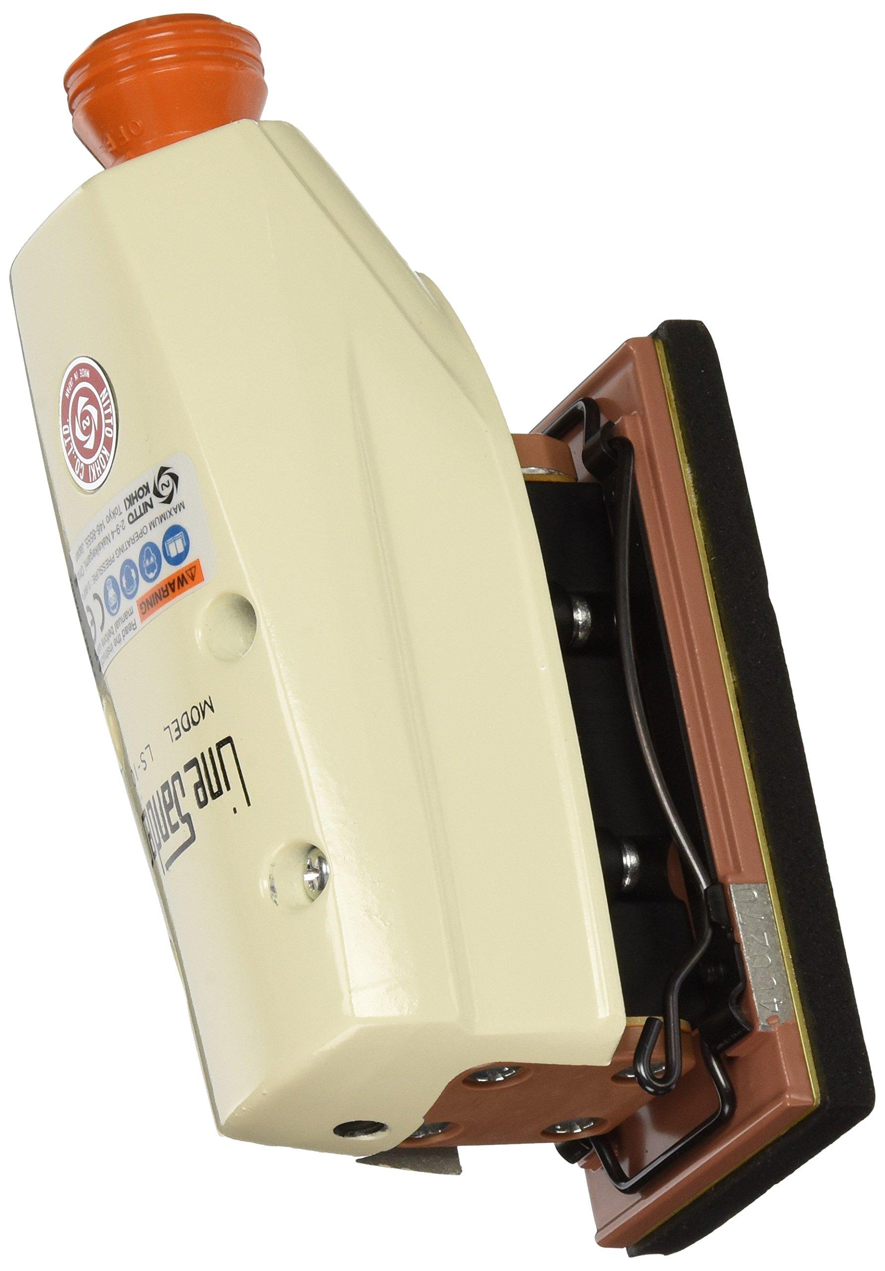 Nitto Kohki LS-10 Line Sander, 85 PSI, 4,000 SPM, 5/32'' Stoke, 2-5/32'' x 4-1/16'' Pad, 2-1/4'' x 5-1/2'' Paper Size