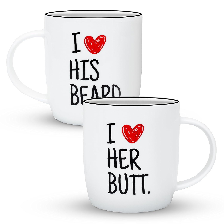 Gifffted Tassen I Like His Beard I Like Her Butt, Lustige Geschenke ...
