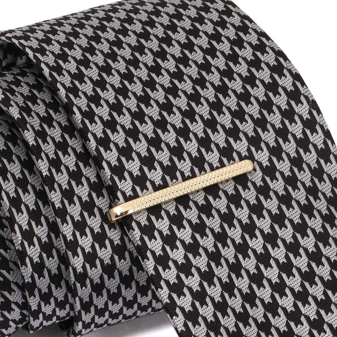 BMC 8pc Stylish Ultra Thin Mixed Metal Finish Bobby Pin Styled Tie Bar Set by b.m.c (Image #6)