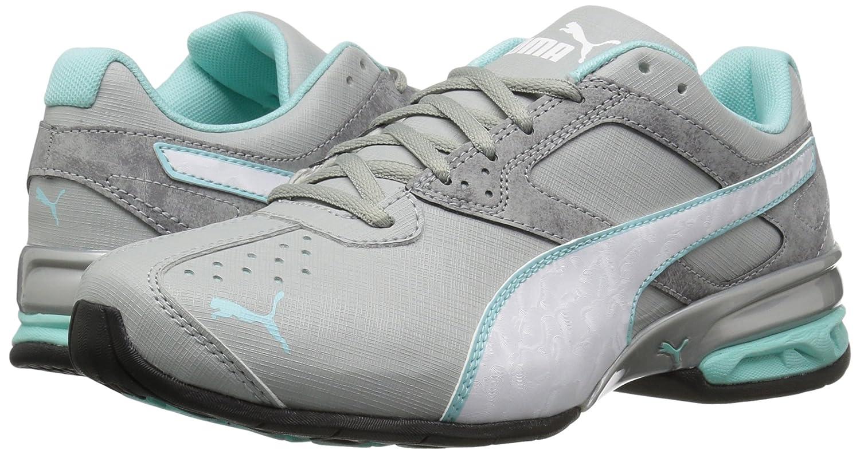 PUMA Women's Tazon 6 Accent WN's B(M) Cross-Trainer Shoe B01LPWGIFM 8 B(M) WN's US|Quarry-puma White-aruba Blue c4b678