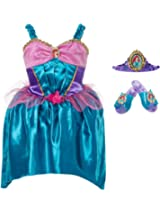 Disney Princess Ariel Costume Dress Up Set 4-6x