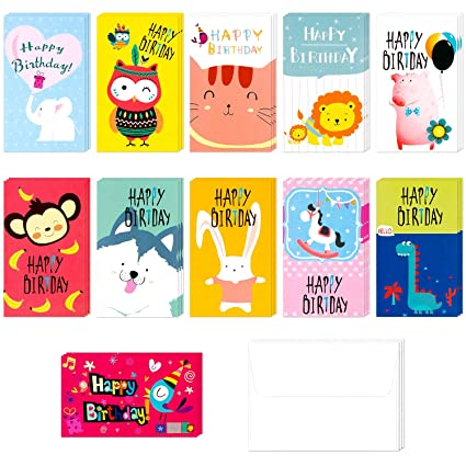 Amazon Assorted Happy Birthday Card Greeting Gift Cards With