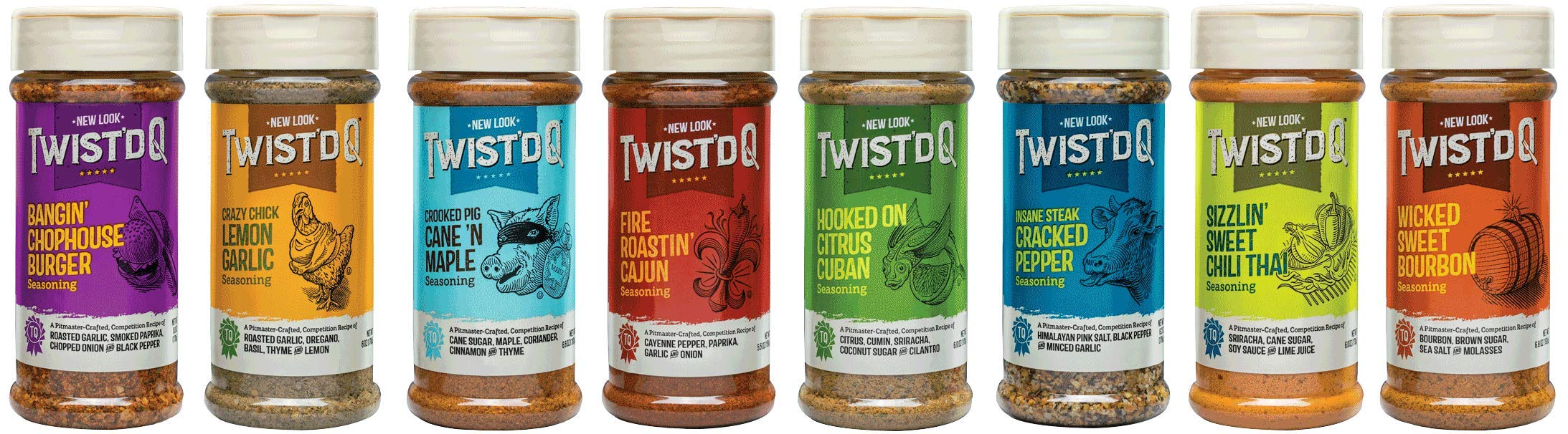 Twist'd Q Extreme 8 Pack Seasoning Gift Box Set by Twist'd Q (Image #2)