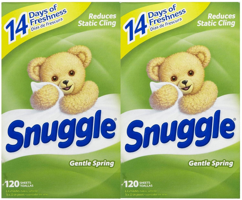 Amazon.com: Snuggle Fabric Softener Sheets - Green Burst /Gentle Spring - 120 ct - 2 pk: Health & Personal Care