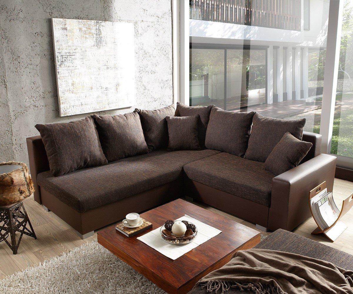 Couch Lavello mit Hocker Ecksofa L-Sofa (Eckcouch Links mit Hocker ...