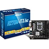 Asrock H270M-ITX/AC Motherboard (LGA 1151, geeignet für Intel Celeron, Core i3,Core i5,Core i7,Pentium) grau